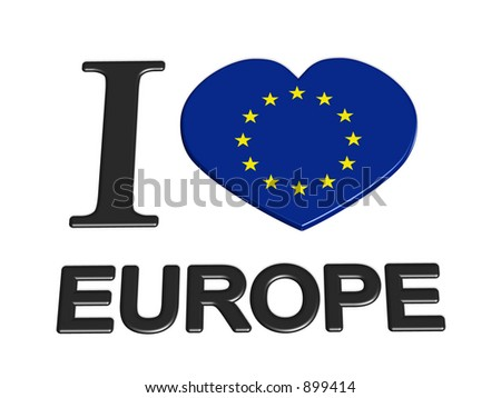 I love europe - stock photo
