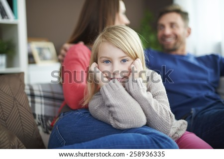 I love family time because they're thinking only about me - stock photo