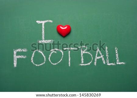 I love football - stock photo