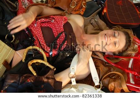 I love handbags - stock photo
