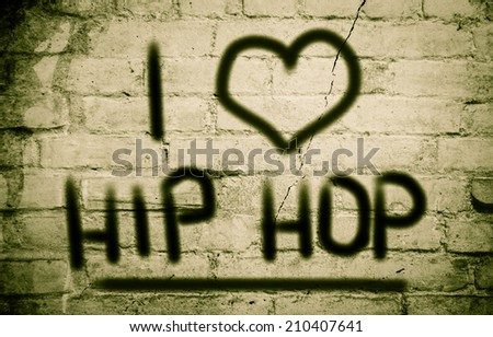 I Love Hip Hop Concept - stock photo