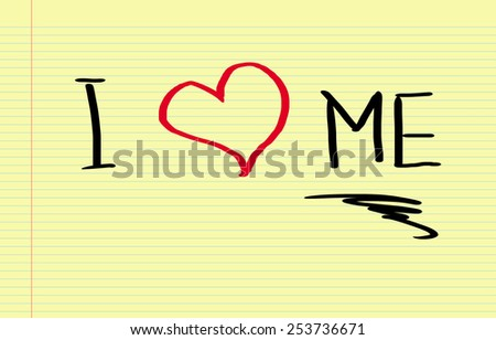 I Love Me Concept - stock photo