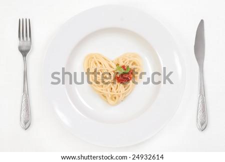 I love Spaghetti! - stock photo