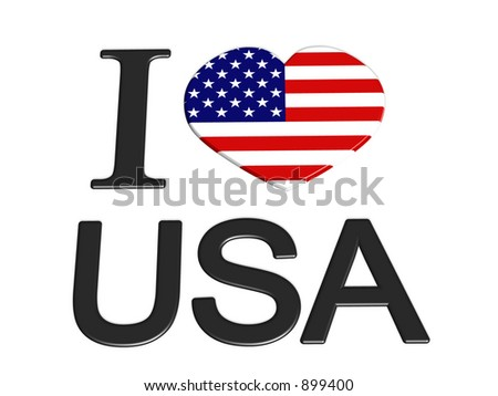 I love usa - stock photo