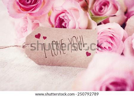I love you! - stock photo