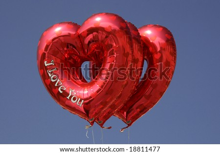 I love you balloons - stock photo