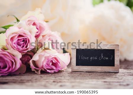 I love you Mom! - stock photo
