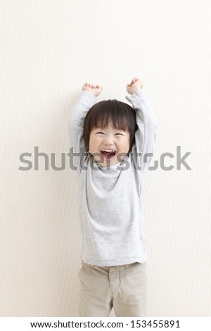 I'm laughing pretty healthy infant - stock photo