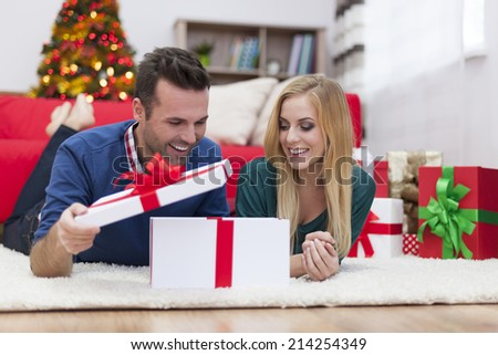 I'm shocked, this gift is the best! - stock photo
