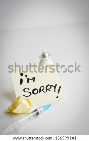 i'm sorry message overdose injection