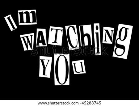 I'm watching you - stock photo