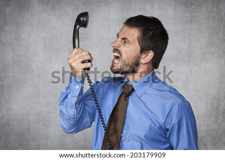 I release you by the phone - stock photo