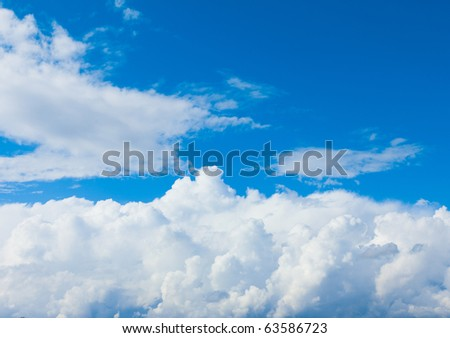 I See Skies of Blue and Blouds of White - stock photo