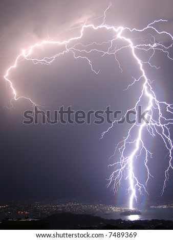 I sow this lightning in Hamburg - stock photo