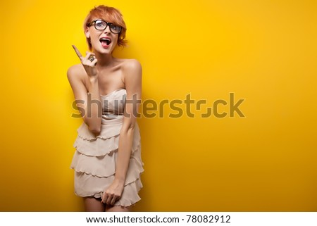 I've got an idea - Young woman - stock photo