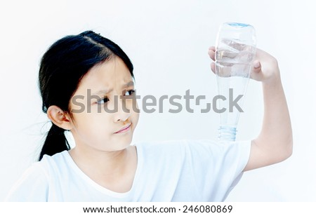 I want to drink water , concept - stock photo