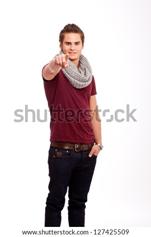 I want you - stock photo