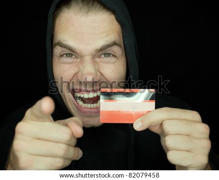 i will get you - stock photo