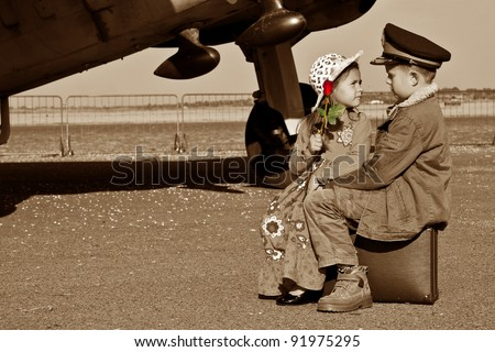 I will miss you when you are off to war - stock photo