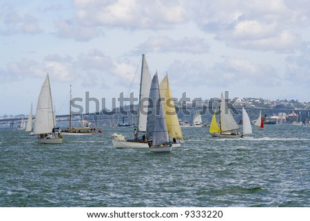 I would rather be sailing - Auckland New Zealand - stock photo