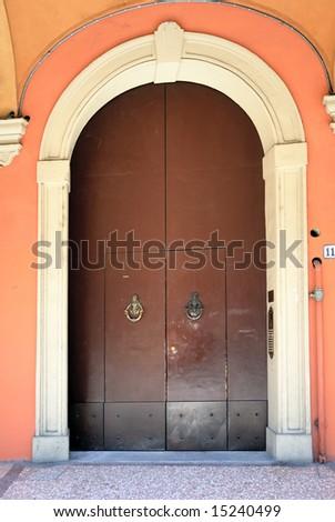 Ialy Bologna antique door - stock photo