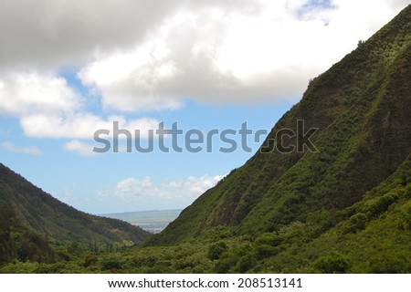 Iao Valley Maui - stock photo