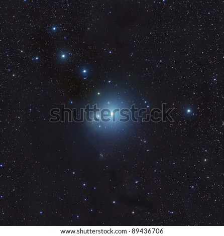 IC348, A Bright Nebula in Perseus - stock photo