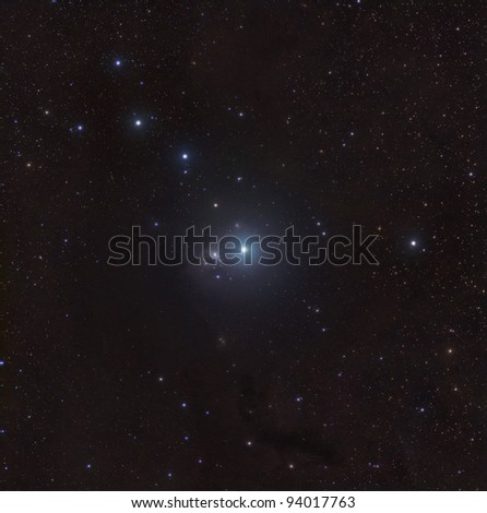 IC 348, a bright nebula in the star forming region on the Constellation Perseus - stock photo