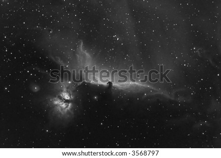 IC 434 Horse Head nebula in Orion - stock photo