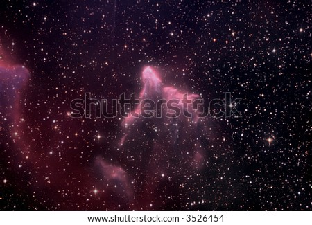 IC 63 nebula in Cassiopeia - stock photo