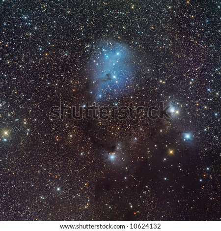 IC 446 nebula in Unicorn - stock photo