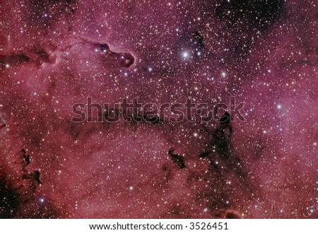 IC 1396 / VdB 142 nebula in Cepheus - stock photo