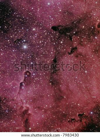 IC 1396 / VdB 142 nebular complex in Cepheus - stock photo