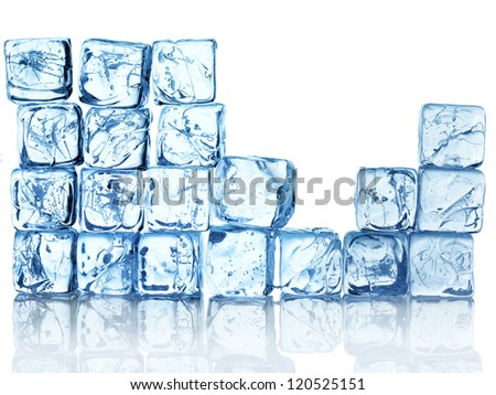 ice background from cubes