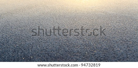 Ice background, frozen water - stock photo
