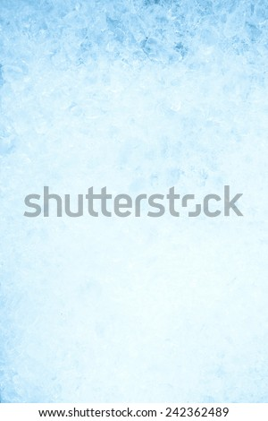 ice background, frozen water, blue - stock photo