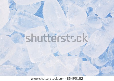 ice background in blue - stock photo