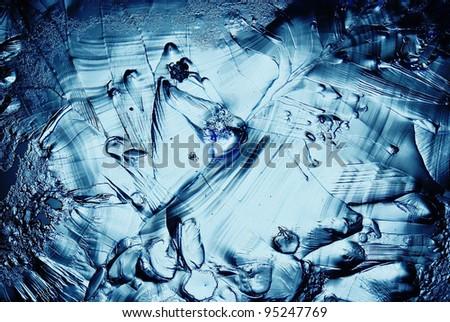 ice background microscopic - stock photo