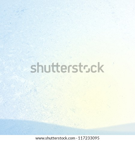 Ice background with old trees for adv or others purpose use - stock photo