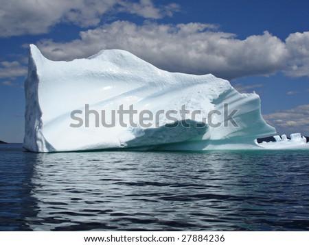Ice Berg in Ocean off Newfoundland - stock photo