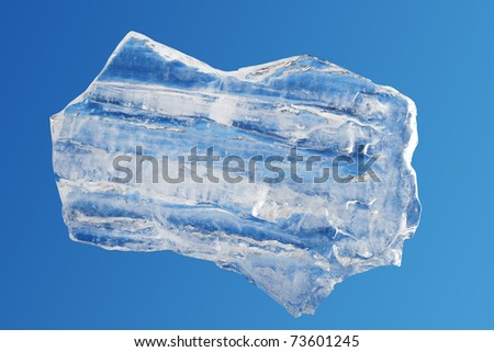 Ice  block  isolated   piece - stock photo