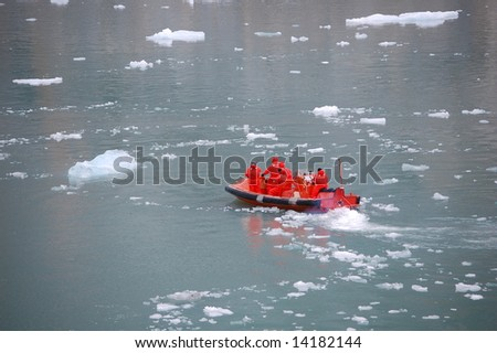 Ice & Boat - stock photo