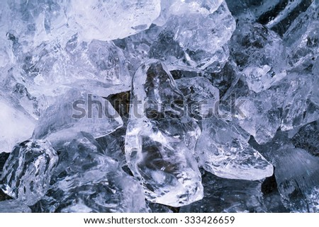 ice brick stacked together studio shot - stock photo