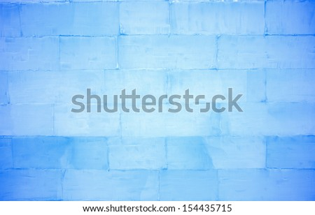 ice brick wall texture using as background