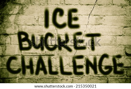 Ice Bucket Challenge Concept - stock photo