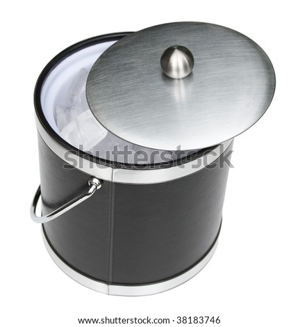 Ice bucket with lid - stock photo