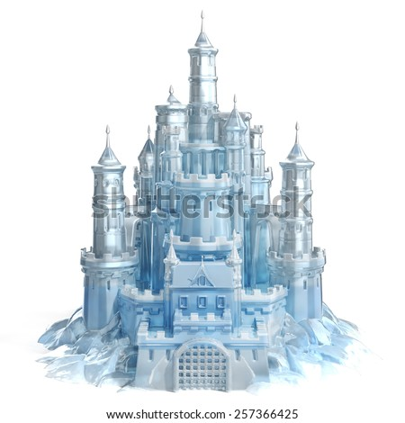 ice castle 3d illustration - stock photo