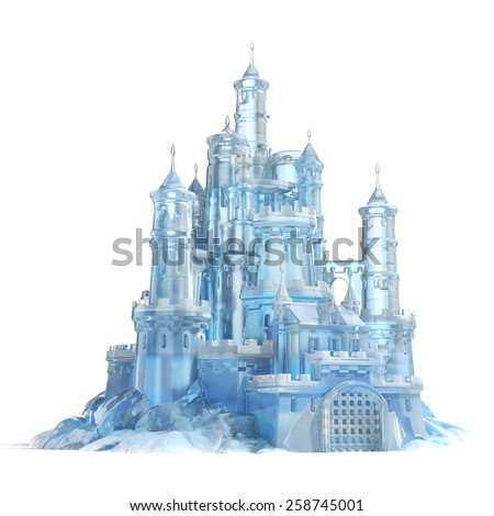 ice castle 3d illustration - stock photo