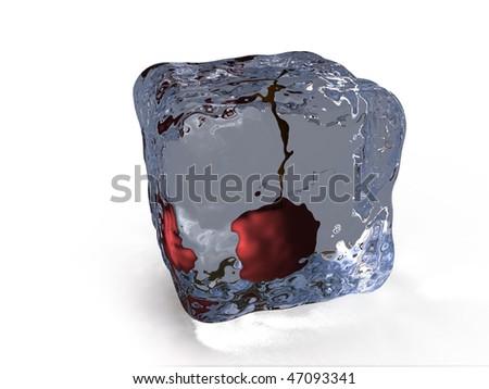 ice cherry - stock photo