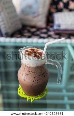Ice chocolate - stock photo